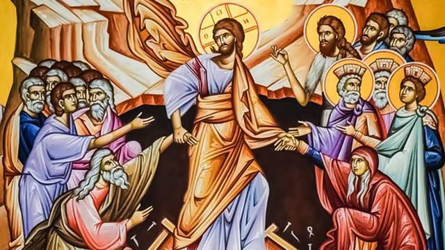 Ο αναστημένος Ιησούς,με τα σημάδια από το καρφί στα χέρια του