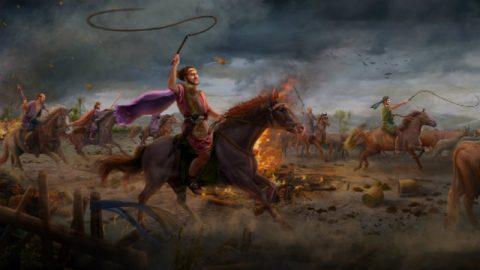 Ο Σατανάς βάζει σε πειρασμό τον Ιώβ για πρώτη φορά (τα ζώα του γίνονται λεία ληστών και συμφορά πλήττει τα παιδιά του)