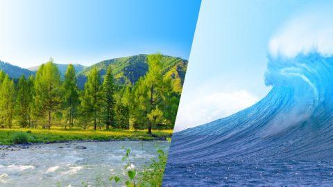 2η ιστορία. Ένα μεγάλο βουνό, ένα μικρό ρυάκι, ένας σφοδρός άνεμος κι ένα γιγάντιο κύμα