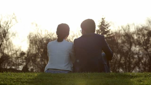 marriage,husband and wife,dusk