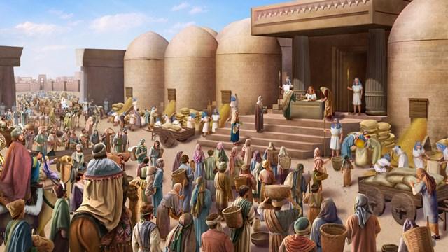 Οι άνθρωποι έρχονταν στον Ιωσήφ για τροφή