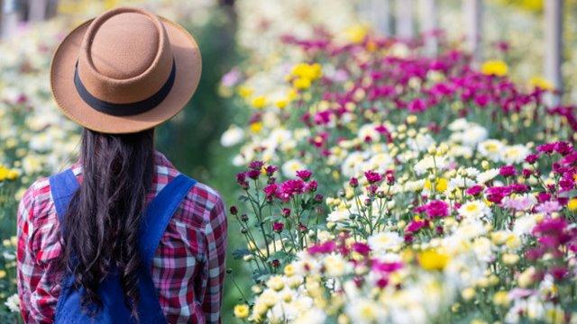 Κορίτσι και λουλούδι