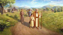 Αβραάμ προσφέροντας isaac